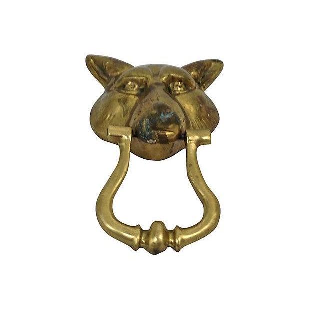 Brass Wolf Head Door Knocker - Image 2 of 4