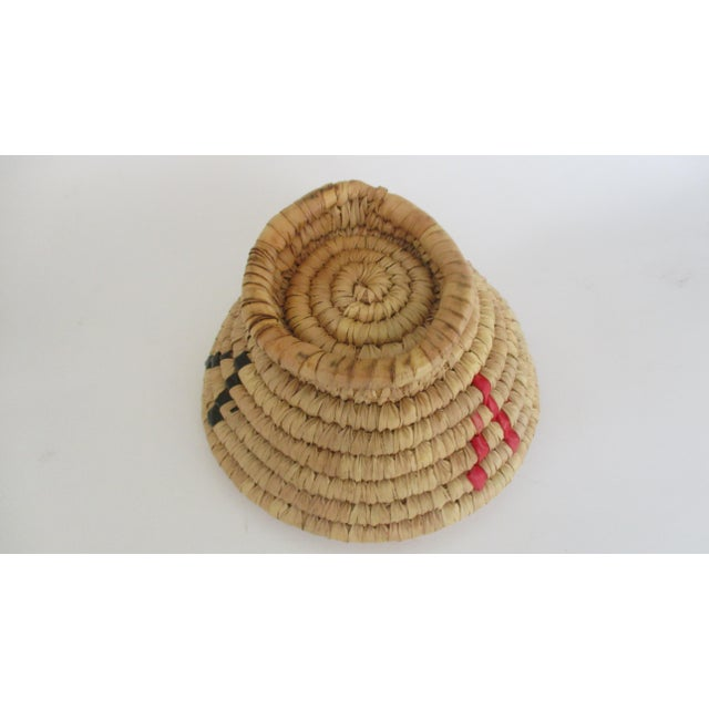 Moroccan Hand Woven Bread Basket Bowl - Image 8 of 9
