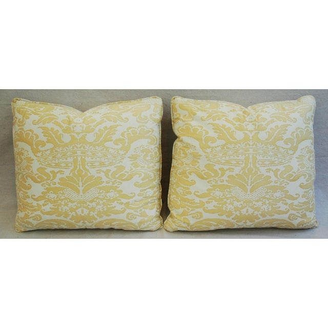 Mariano Fortuny Italian Corone Crown Feather/Down Pillows - Pair - Image 6 of 10