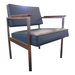 Mid-Century Modern Blue Arm Chair