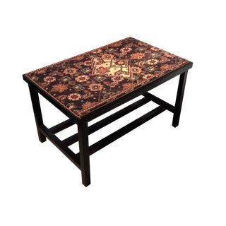 Antique Malayer Rug Coffee Table