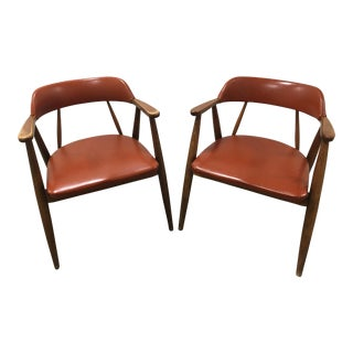 Vintage Mid-Century Modern Chairs by Boling Chair Co. - A Pair