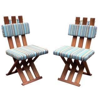 Harvey Probber Sedia a Tenaglia Chairs - A Pair