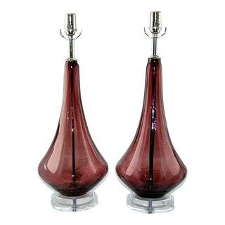 Purple Vintage Murano Lamps