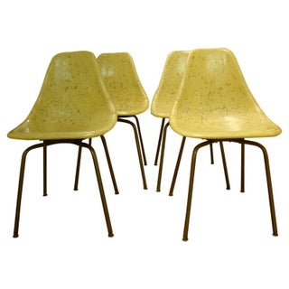Mid Century Fiberglass Shell Chairs - Set of 4
