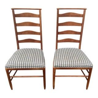 Vintage Nichols & Stone Ladder Back Chairs - A Pair