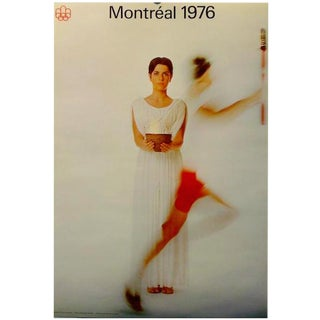 """1976 """"Woman with Flame"""" Montreal Olympic Poster"""