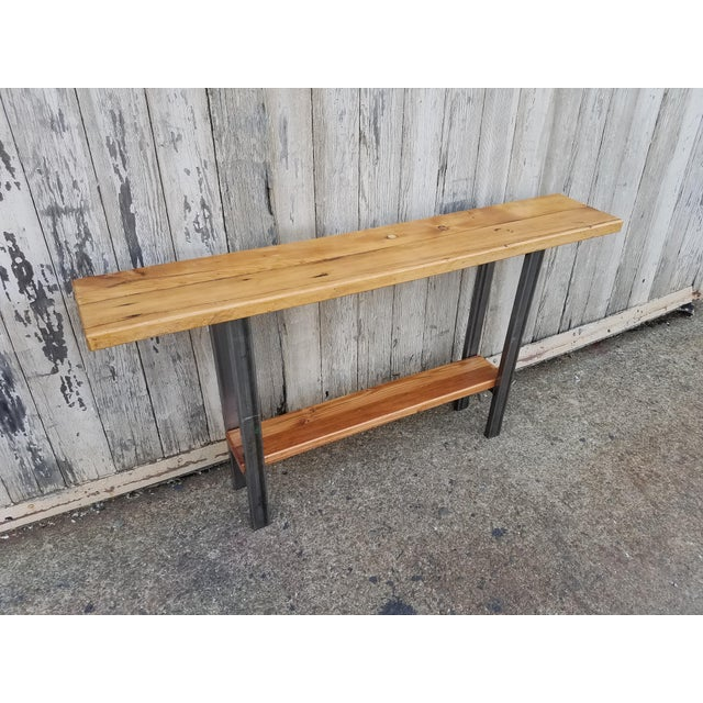 Reclaimed Wood Console Table - Image 4 of 6
