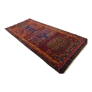 Kurdish Hand Knotted Rug Tribal Carpet - 4′8 × 10′6″