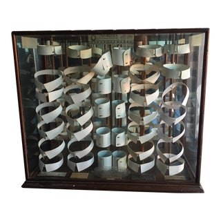 Antique Van Heusen Collar Display Case