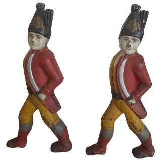 Antique Hessian Soldier Andirons - Pair