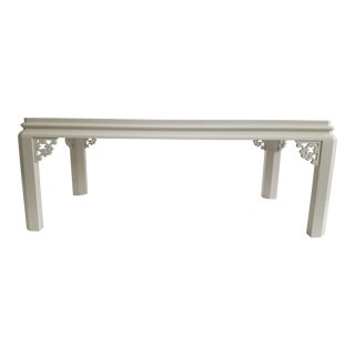 Lacquered Fretwork Coffee Table