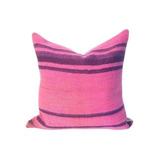 Pink Stripe Moroccan Kilim Pillow