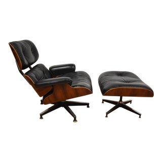 Original Eames Rosewood Lounge Chair and Ottoman