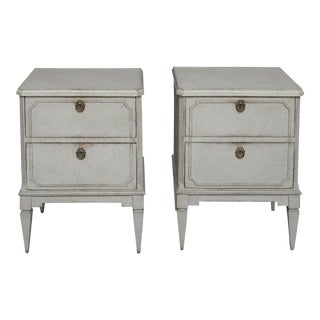 Pair of Two Drawer Swedish Nightstands (#62-11)