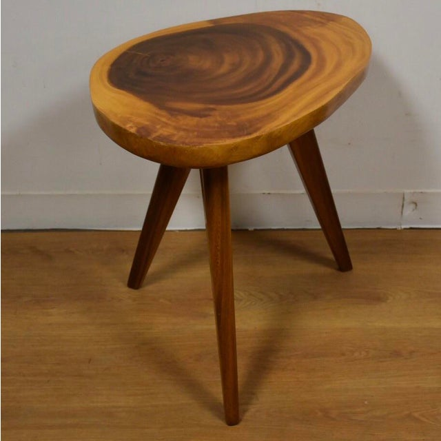 Vintage monkey pod end table chairish for End tables for sale near me