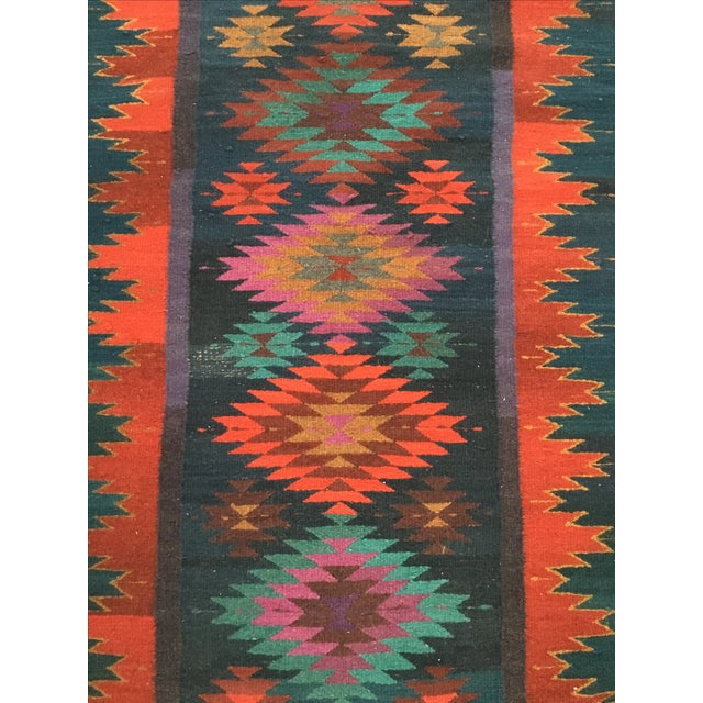 Vintage Handmade Reversible Navajo Arrows Rug - Image 3 of 8