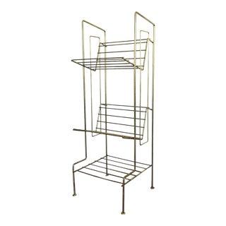 Mid Century Brass Bookshelf