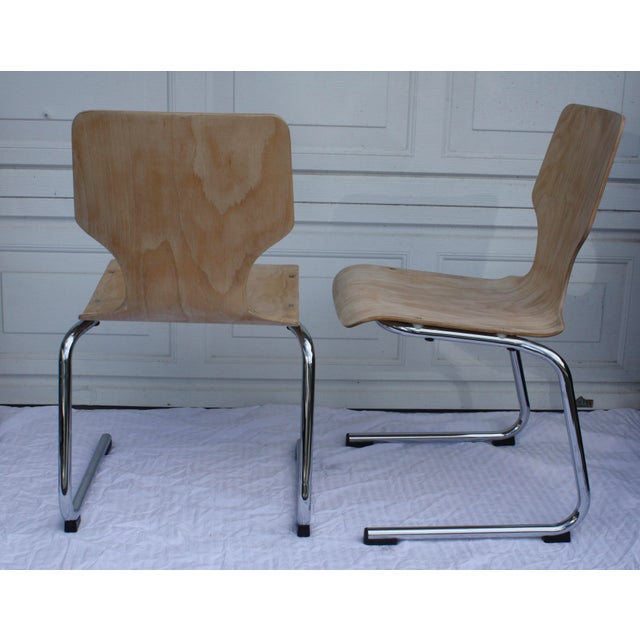 1960s West German Pagwood Chairs- Set of 4 - Image 6 of 6