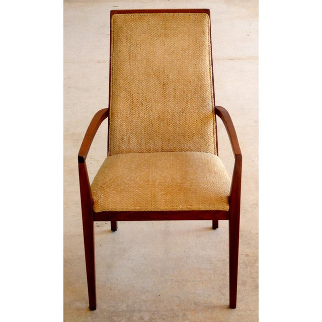 Dillingham Mid-Century Walnut Dining Chairs - Set of 6 - Image 2 of 9