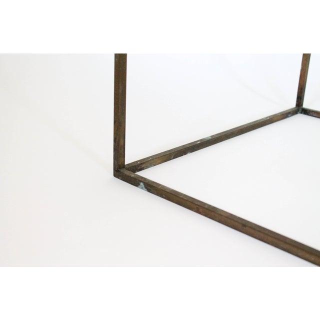 Rectangular Brass & Travertine Table - Image 11 of 11