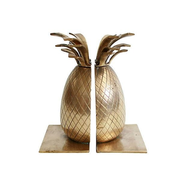 Image of Brass Pineapple Bookends - A Pair