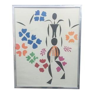 Mid-Century La Ne'gresse Par Matisse Gouache Print