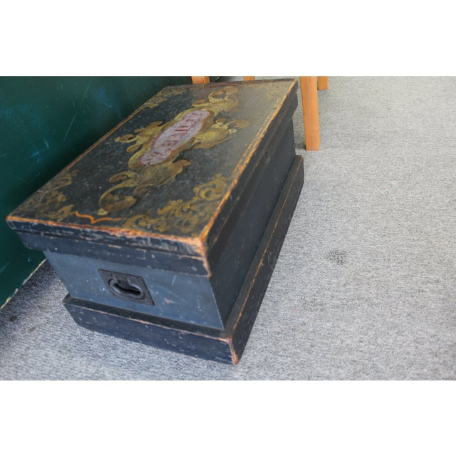 Antique Painted Craftsmen Tool Chest on Stand - Image 7 of 11