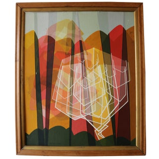 1957 Geometric Abstract Painting by Betsey