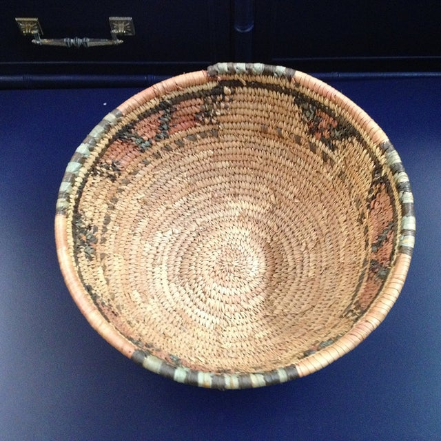Image of Natural African Woven Basket