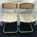 Image of Gold Retro Twine Dining Chairs - 4