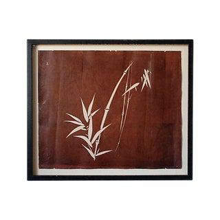 Antique Katagami of Bamboo Art