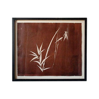 Antique Katagami of Bamboo Art