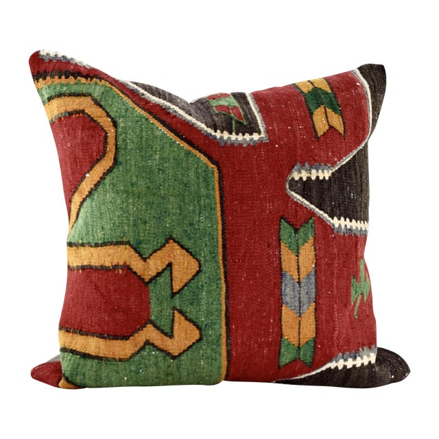 Oversized Kilim Accent Pillow - Image 1 of 8