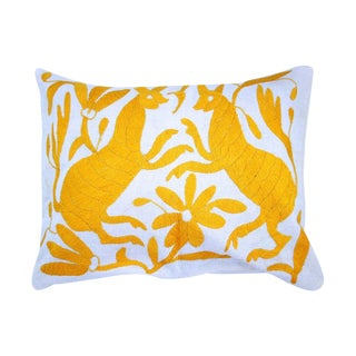 Yellow Handwoven Otomi Pillow Cover