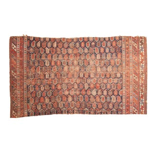 "Antique Afshar Rug Fragment - 3'10"" x 6'11"""
