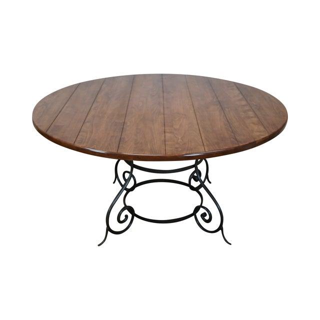 Charleston Forge Euro 60 Quot Iron Base Dining Table Chairish