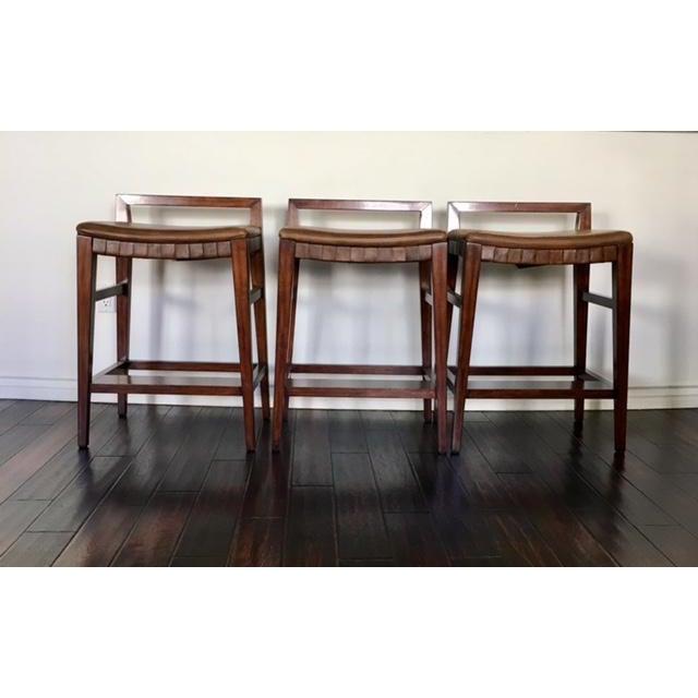 Image of Henredon Acquisitions Barstools - Set of 3