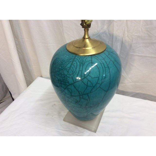 Image of Mid-Century Modern Teal Table Lamp
