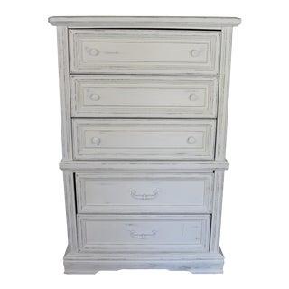 Shabby Chic White Highboy Dresser