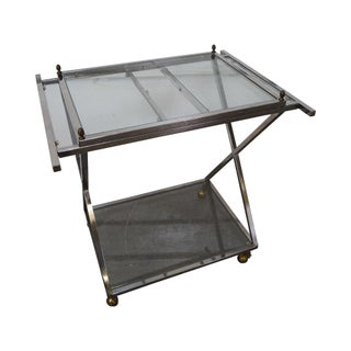 Hollywood Regency Chrome X Base Server Cart