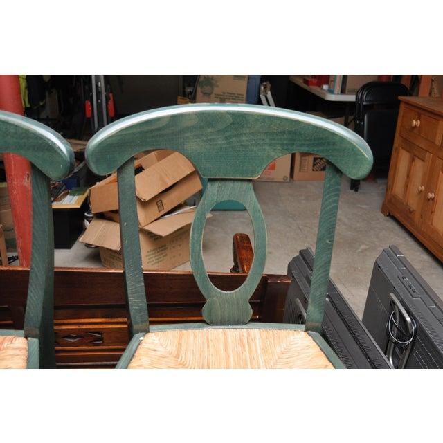 Rush Seat Bar Stools - Set of 4 - Image 4 of 4