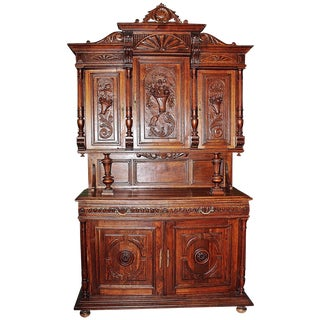 French Rococo Hand-Carved Hutch