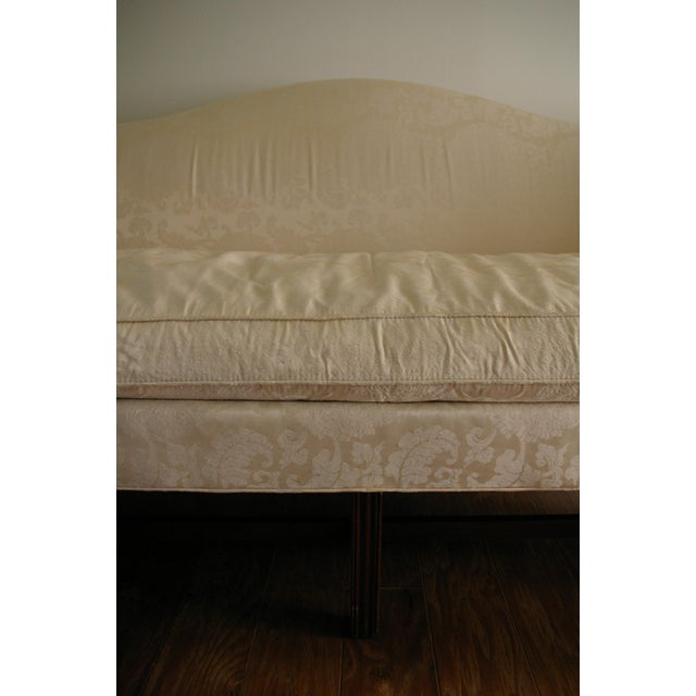 Vintage Hickory Chair Chippendale White Sofa - Image 8 of 8