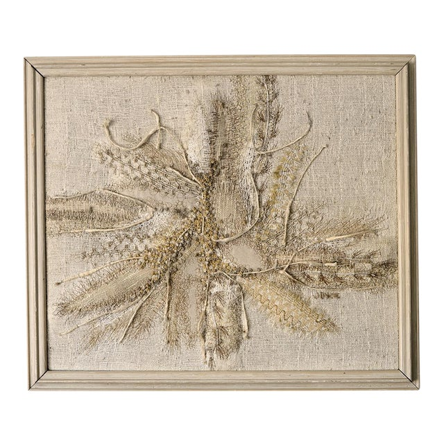 Modernist Abstract Fiber Art Wall Hanging - Image 1 of 8