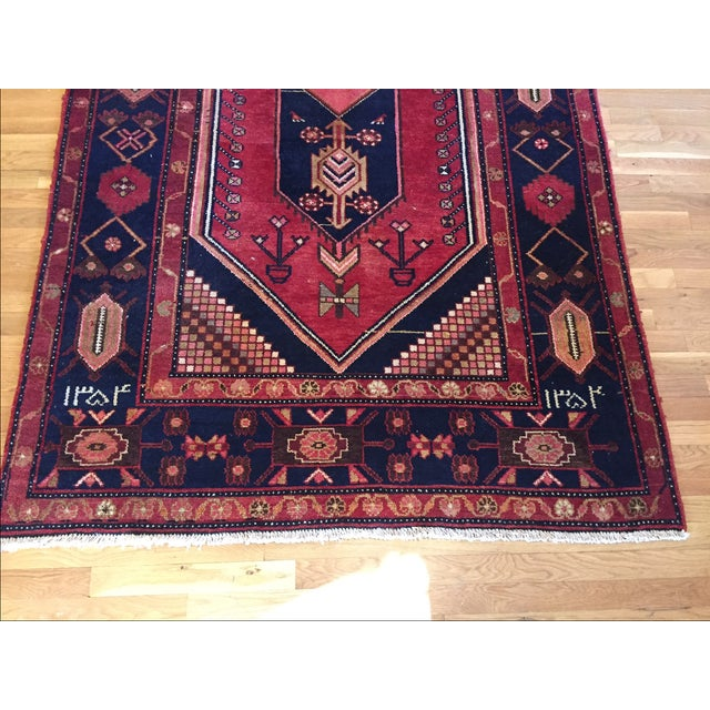 """Vintage Hand Knotted Turkish Rug - 4'11"""" x 8'11"""" - Image 10 of 10"""