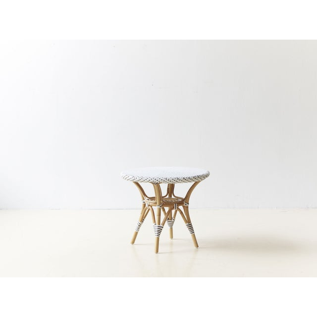 Image of Danielle White & Cappucino Dots Side Table