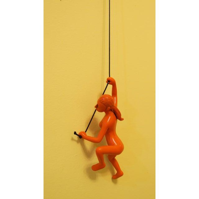 Orange Climbing Girl Wall Art Decor - Image 3 of 5