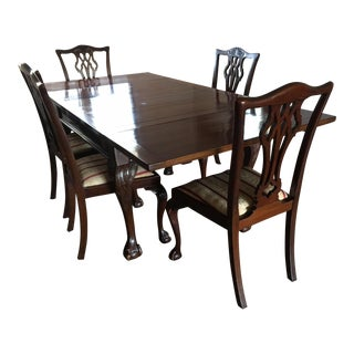 Mahogany Dining Table & Chairs Built in 1929