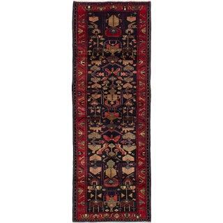 """Nahavand Vintage Persian Rug, 3'5"""" x 9'10"""""""